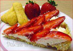Crostata fredda di pavesini con mascarpone e fragole, ricetta senza cottura(al posto del mascarpone possiamo mettere ricotta!!)