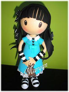FOFUCHAS Gorjuss Foam Crafts, Arts And Crafts, Diy Crafts, Clay Dolls, Art Dolls, Lalaloopsy, Diy Doll Pattern, Clay Figurine, Holly Hobbie