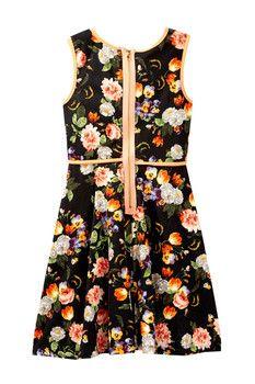 Pippa & Julie Floral Print Sleeveless Dress (Big Girls)