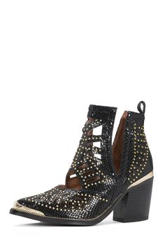 Jeffrey Campbell Shoes MACEO Shop All in Black Snake Gold