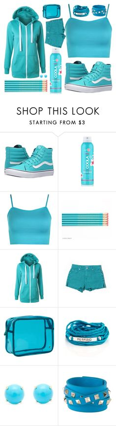 """Turquoise"" by artemishunters ❤ liked on Polyvore featuring Vans, COOLA Suncare, WearAll, 7 For All Mankind, Stephanie Johnson, Blooming Lotus Jewelry, Irene Neuwirth, Valentino and turquoise"