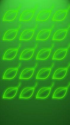 Green Glow Leaf Shelves HD iPhone 5 Wallpaper