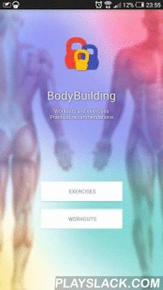 BodyBuilding  Android App - playslack.com ,  App contains recommendations not only for beginners and pro bodybuilders, but also for athletes from different sports. Workouts are provided with a description of the muscles involved, diagrams of exercises and practical advices.You can save your results both in app and in text file stored on your device! Statistics contains your results and measurments of your body.According to your body measurments app can calculate body fat %.