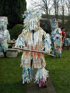 Mummers in action. Mumming is a strange old English custom of performing dramas…