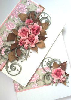 Quilled roses-vintage