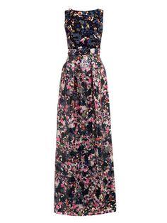 Erdem  Valma dartry-print sequinned long dress