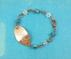 Disney - ARIEL and ERIC - Swarovski Bead Bracelet - Pressed Penny  -  Limited Edition. $11.95, via Etsy.