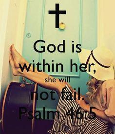 She will not fail.