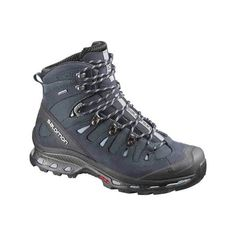 Women's Salomon Quest 4D 2 GORE-TEX Boot (1.605 DKK) ❤ liked on Polyvore featuring shoes, boots, evening shoes, salomon shoes, salomon boots, dark blue boots and lace up shoes