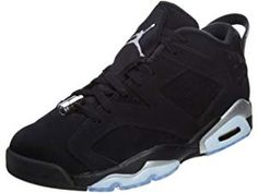 huge discount d0c4a 6c5d5 NIKE Air Jordan 6 Retro Low, Chaussures de Sport-Basketball Homme, Noir