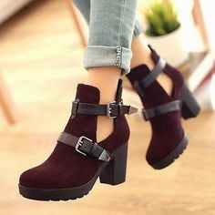 Cut out shoes, ebay fashion girl, botines otoño invierno, moda zapatos, cut out booties www.PiensaenChic.com: