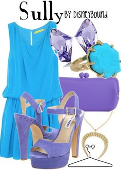 Sully from Monsters Inc..... Disney Inspired Outfits  Love the movies, love this outfit!!!   #totally jealous