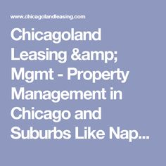 Chicagoland Leasing & Mgmt - Property Management in Chicago and Suburbs Like Naperville, Bolingbrook, Palatine, and Plainfield