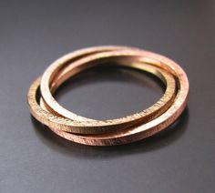 BIZOE gold 585- Złota obrączka - potrójna - ruchoma w BIZOE na DaWanda.com
