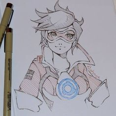 "OVERWATCH ""Tracer"" Cool Sketch. http://ift.tt/2xQIszN"