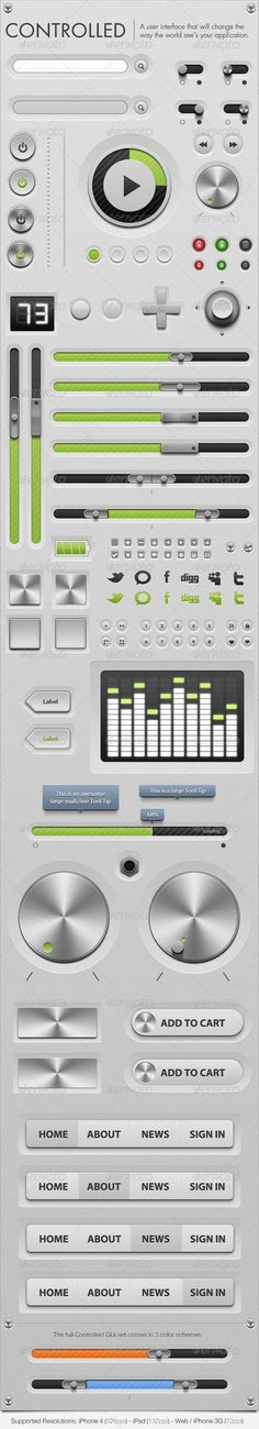 Web Elements - Royce - GUi - Graphical User Interface | GraphicRiver