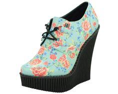 Black & White Platform Creeper Heel - T.U.K. Shoes   T.U.K. Shoes