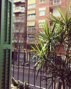 Good Morning Barcelona. The Sun is high and the vibe is good #morning #barcelona #sun #downtown  #balcony
