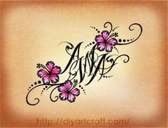 #hibiscus #tattoo #AWA....neat way to add initials. this would be great for my daugher's initials as a tattoo | WefollowPics