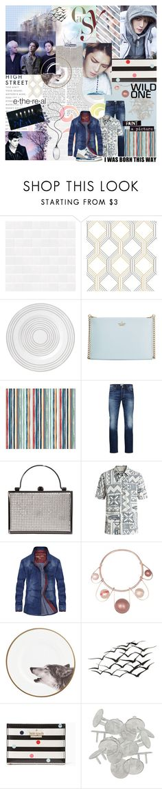 """""""BVGKPOPBG: Round 1"""" by tokyotrekker ❤ liked on Polyvore featuring Kate Spade, ADAM, Jack & Jones, Quiksilver, WALL, Safety 1st, men's fashion and menswear"""