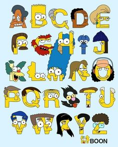 Simpsons Alphabet with all the Importanz Charakters!