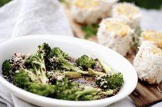 Ponzusaus og grillet brokkoli! Broccoli, Cooking Recipes, Vegetables, Food, Grilled Broccoli, Crickets, Food Recipes, Veggie Food, Vegetable Recipes