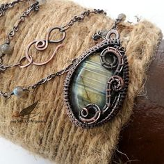Wire Wrapped Jewelry Copper & Labradorite Necklace by MyWillowGems