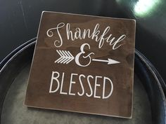 Thankful Blessed Handmade Sign Home Decor Rustic Decor Kitchen Sign Scripture Christian Art Wood Sign Hand Painted