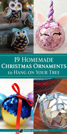 19 Homemade Christmas Ornaments to Hang on Your Tree via Michelle Varga (Dishes and Dust Bunnies) Christmas Crafts For Kids To Make, Homemade Christmas, All Things Christmas, Christmas Fun, Holiday Crafts, Christmas Bulbs, Homemade Ornaments, Fall Crafts, Holiday Ideas