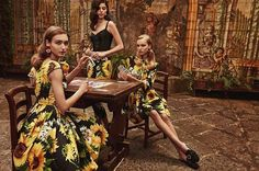 Mastering the art of cards here in an intimate Sorrento terrace. #DGTropicoItaliano #DGWomen Photo by @nimabenati Hair by @chiarabonacina Makeup by @_nicologrossi_  via DOLCE & GABBANA OFFICIAL INSTAGRAM - Celebrity  Fashion  Haute Couture  Advertising  Culture  Beauty  Editorial Photography  Magazine Covers  Supermodels  Runway Models