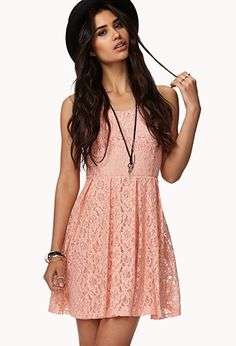Floral Lace Dress w/ Belt | FOREVER 21 - 2042997025