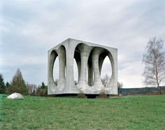 """""""Abandoned WWII monument on the Hrib Svobode (Freedom Hill) in the Ilirska Bistrica, Slovenia.""""  Thanks to paradoxoff.com"""