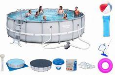 Stelażowy basen ogrodowy firmy Bestway przeznaczony jest dla całej rodziny. Dzięki odpowiedniej filtracji i pielęgnacji wodę nalewamy tylko raz na cały sezon kąpielowy.