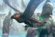 MtG Art: Anvilwrought Raptor from Theros Set by James Zapata - Art of Magic: the Gathering Fantasy Beasts, 3d Fantasy, Fantasy Story, Dragons, Mtg Art, Fairytale Art, Creature Concept, Sketch Painting, Environmental Art