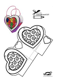 Heart pattern - Diy and Crafts Diy Gifts For Boyfriend, Gifts For Dad, Diy St Valentin, Printable Crafts, Printables, Valentine Crafts, Valentines Day, Art For Kids, Crafts For Kids