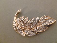 Jeweled Leaf Magnet by MagnetMuse on Etsy