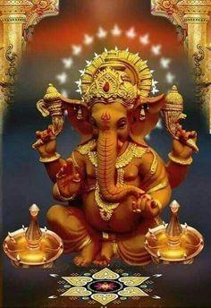 Shri Ganesh Images, Sri Ganesh, Shiva Parvati Images, Mahakal Shiva, Ganesha Pictures, Shiva Art, Hindu Art, Lord Ganesha, Lord Shiva