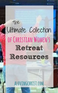 Planning a women's retreat? This ultimate list of christian women's retreat resources will help! Use our actual recipes, agendas, etc. Christian Women's Ministry, Christian Faith, Womens Ministry Events, Christian Retreat, Christian Resources, Women Of Faith, Women's Retreat, Ministry Ideas, Ultimate Collection