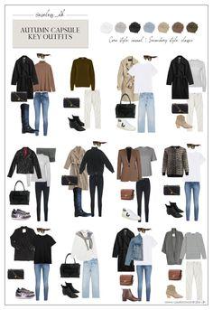 Fall Capsule Wardrobe, Capsule Outfits, Fashion Capsule, Casual Fall Outfits, Winter Fashion Outfits, Mode Outfits, Autumn Winter Fashion, Autumn Outfits, Autumn Casual