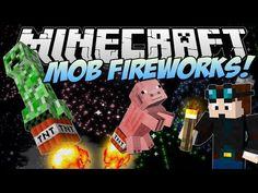 Minecraft | MOB FIREWORKS! (Celebrate, Minecraft Style!) | Mod Showcase