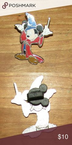 Wizard Mickey Mouse Pin $$OBO$$ 1.75 inches tall 2008 $$  CLOSET CLEAR OUT! Taking all offers made using the button, I also give great deals on bundles, just ask! Note: I do not take offers $5 or less. Also I do not trade. Disney Jewelry Brooches