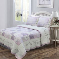 Love of Lilac 3-piece Quilt Set and Optional Sham Separates - Overstock™ Shopping - The Best Prices on Kids' Quilts http://www.overstock.com/Bedding-Bath/Love-of-Lilac-3-piece-Quilt-Set-and-Optional-Sham-Separates/6422148/product.html?refccid=4CMWGLRJ7K2Y6TCHFK6Y4PPI5I&searchidx=85