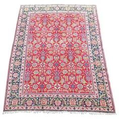 Persian Tabriz Rug Vibrant Colors Much Apple Green