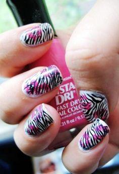 shweshwe dresses 2017 and the latest nail art Nail Art 2014, Nail Art Diy, Diy Nails, Zebra Stripe Nails, Zebra Print Nails, Diy Nail Designs, Simple Nail Designs, Latest Nail Art, Beautiful Nail Designs