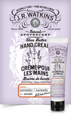 Hand Cream | J.R. Watkins this is the same as the Aloe and Green Tea scent, but in Lavender