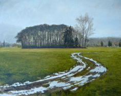 """Ruthie V. Copse of Trees, oil on linen, 16x20"""" www.ruthiev.com"""