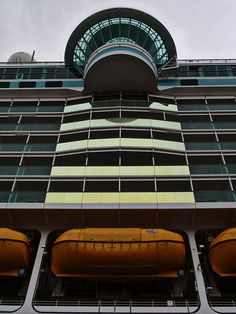 Independence of the Seas. Two of the cantilevered whirlpools onboard extend over the sides of the ship, overlooking the ocean.