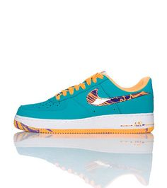 NIKE Air Force One Low top men's sneaker Lace up closure Padded tongue with NIKE logo Signature swoosh on side of shoe Cushioned sole for comfort