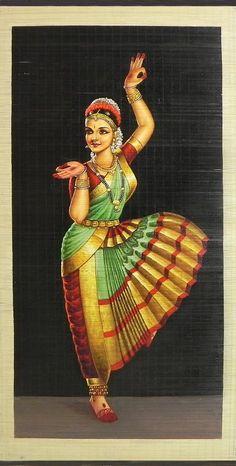 Bharatnatyam Dancer (Painting on Woven Bamboo Strands) inches - Sharmistha Mukherjee - Indian Living Rooms Dance Paintings, Indian Art Paintings, Room Paint Colors, Paint Colors For Living Room, Indiana, Blue Grey Walls, Dark Walls, Brown Walls, Beige Walls