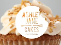 Logo design for Ashley Jane Cakes. Simple yet effective. #logodesign #baking #cakedesign